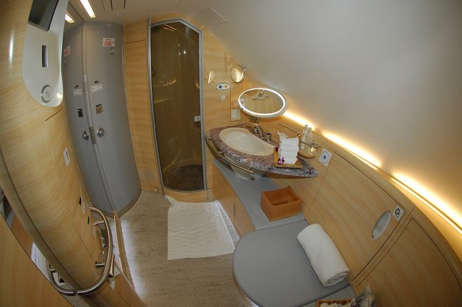 First class shower onboard Emirates A380
