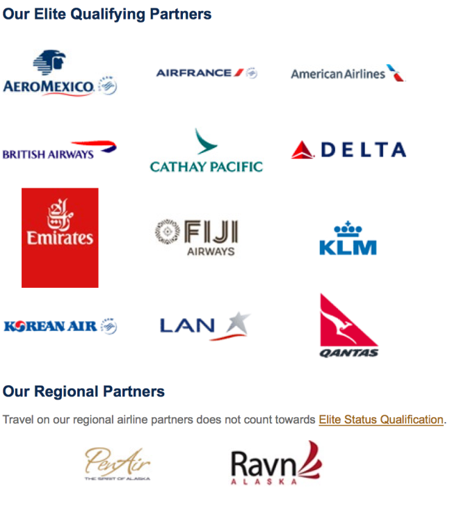 Alaska Airlines Award Partners