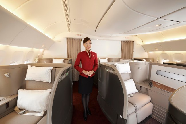 Cathay Pacific First Class Cabin