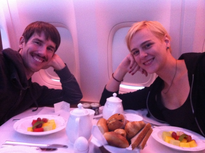 Nothing beats fine dining at 35,000 feet.