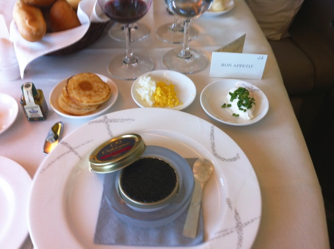 Caviar in Cathay First Class