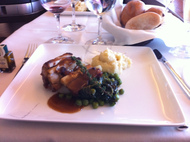 Braised Kurobuta pork in Cathay First.