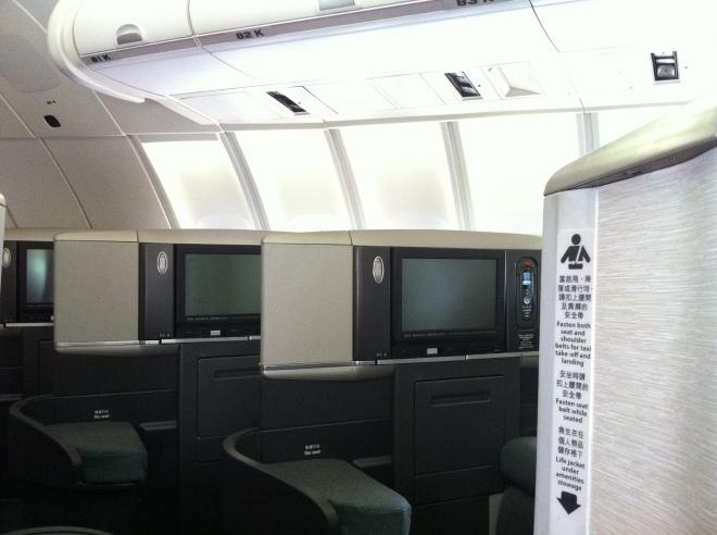 CX 747 Business Class Cabin