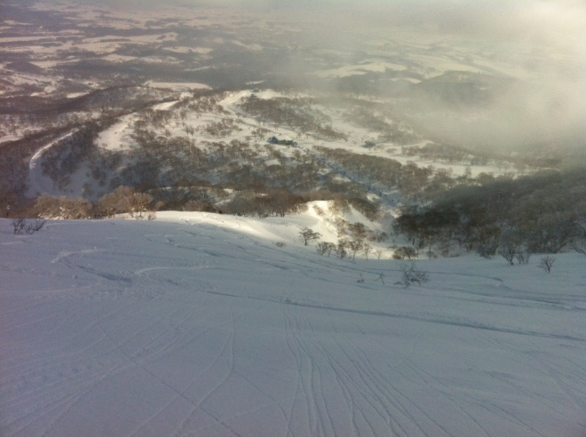 Fresh Powder at the top of Niseko!