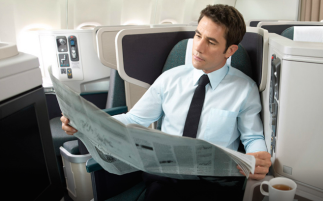 If you like reading the newspaper, Cathay Business class has got you covered.