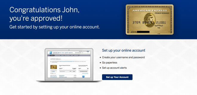 Amex Gold Card Approved!