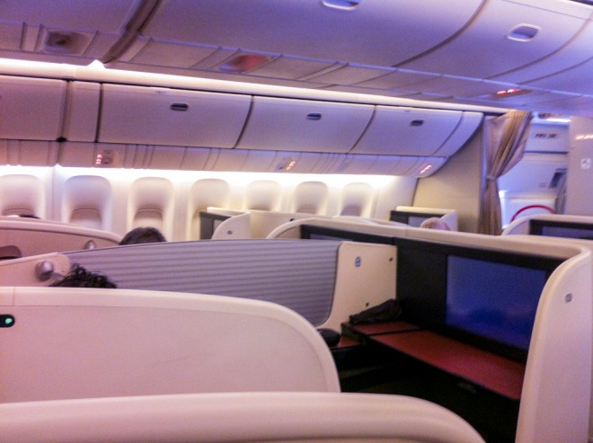 JAL first class cabin