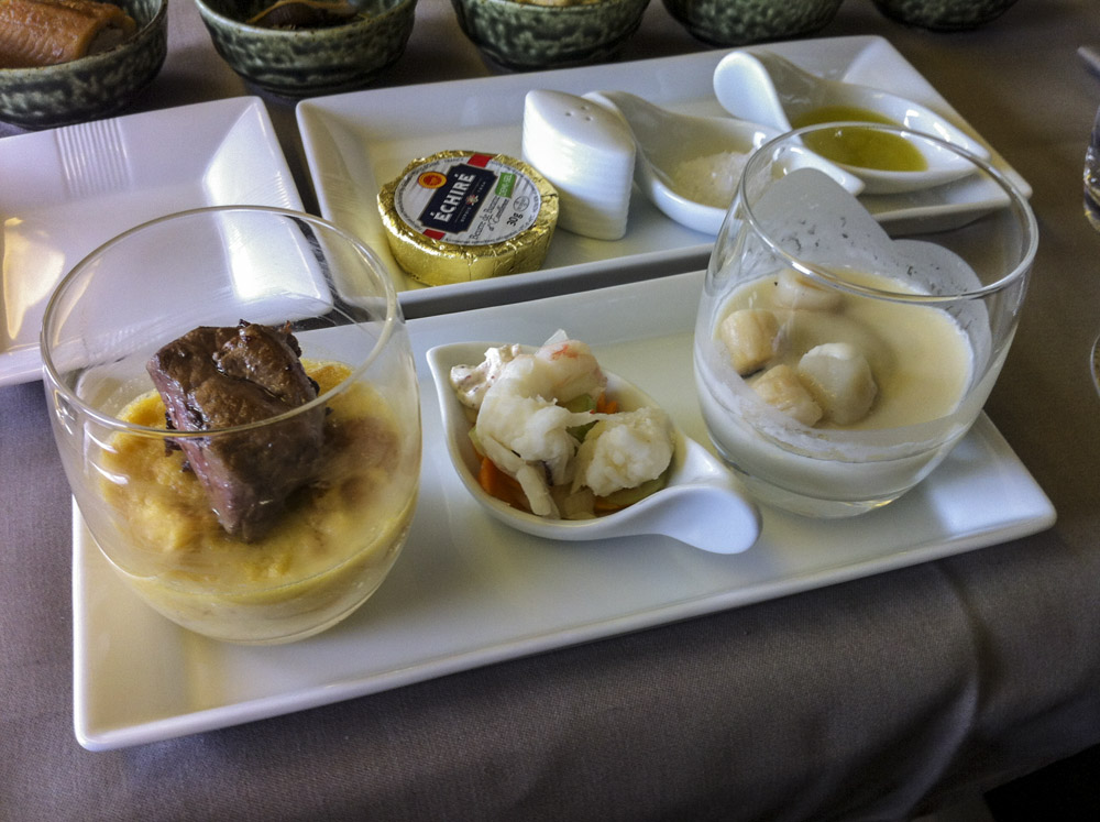 JAL First Class Hors D'oeuvres.