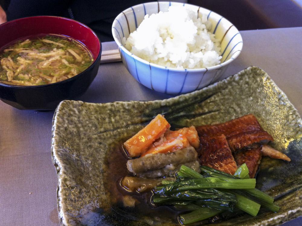 JAL First Class Japanese Main Dish.