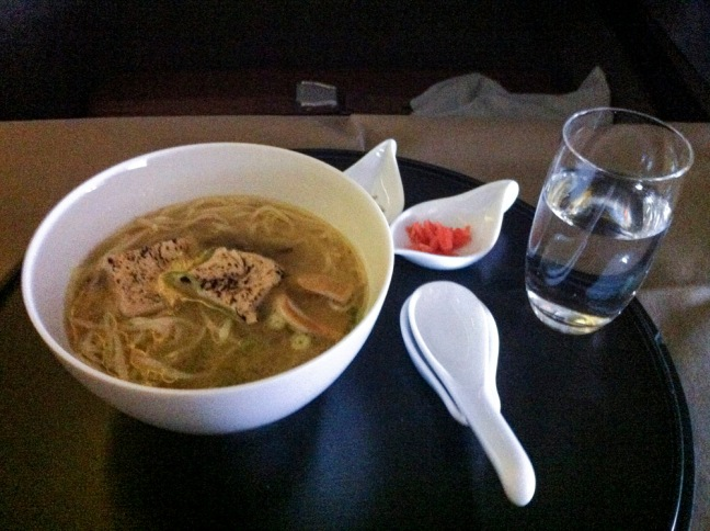JAL First Class Dine Anytime Option.