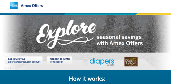 Amex Offers Homepage