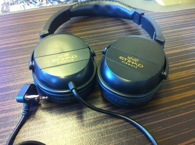 Etihad Business Class head phones