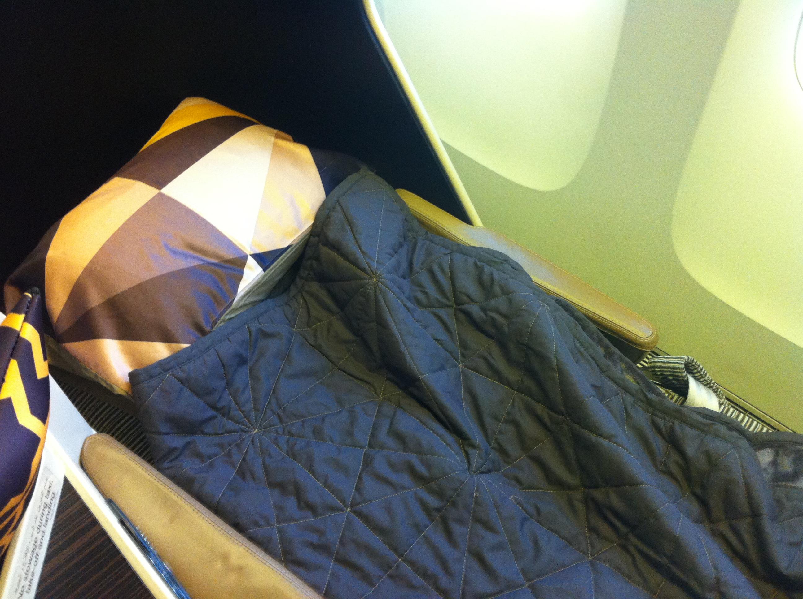Etihad Business Class flat bed