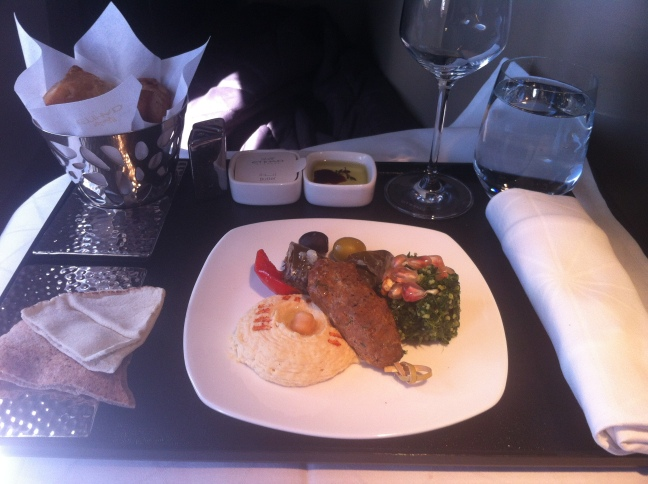 Etihad table setting