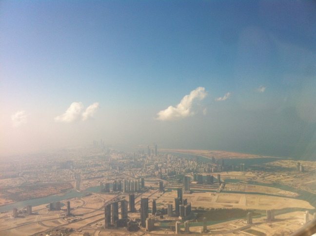 Descending into Abu Dhabi.