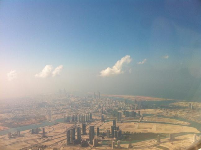 Descending into Abu Dhabi.